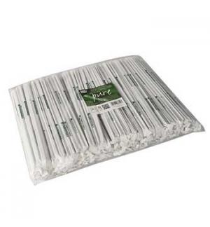 Palhinhas 24cmx5mm PLA Biodegradável Preto 400un