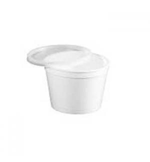 Caixa C/Tampa p/Alimentar PP Branco Cap 1000ml 25un