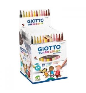Marcador Feltro Giotto Turbo Color Skin Tones 12 cores
