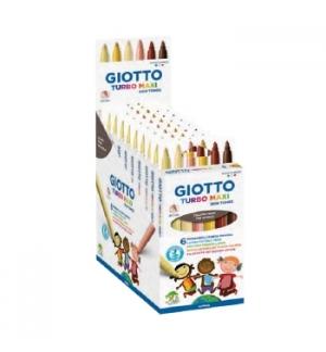 Marcador Feltro Giotto Turbo Maxi Skin Tones 6 cores