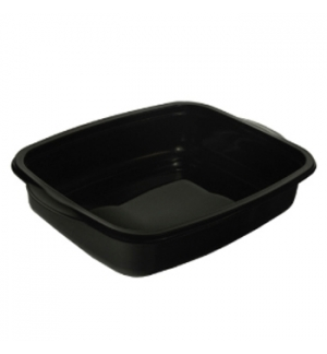 Caixa Alimentar PP p/Microondas Preta Rectagular 1100ml 50un