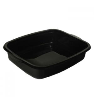 Caixa Alimentar PP Microondas Retangular Preto 1100ml 50un