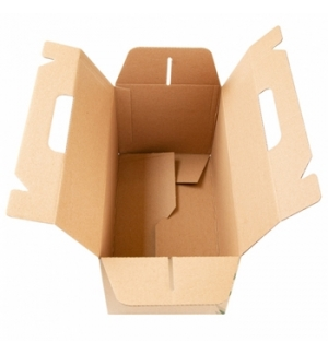 "Caixa c/Asa p/Menu ""Lunch Box"" Kraft 24,5x13,5x12cm 1un"