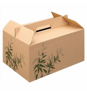 Caixa Asa Menu Lunch Box Kraft 28x20x15cm 1un