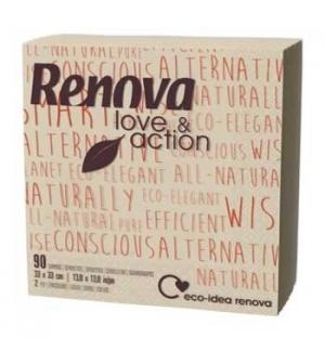 Guardanapos 33x33cm 2fls Renova Love&Action 90un