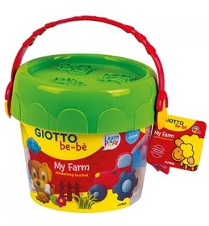 Conjunto Pasta Modelar Giotto Be-Be Balde Farm
