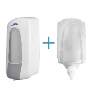 Saboneteira Plastica Branca+Gel Higienizante (Recarga)1L1un
