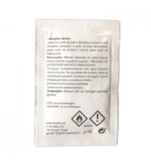 Saqueta c/Gel Desinfectante 3ml Cx 500un