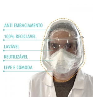 Viseira Facial de Proteccao Individual Autorizada p/ASAE 1un