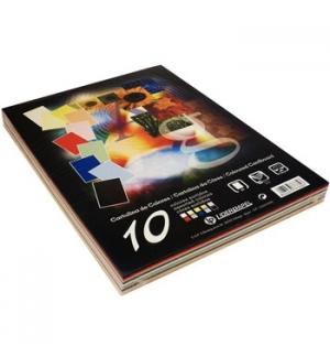 Cartolina 180gr 100 folhas A4 (10 Cores) (37332)