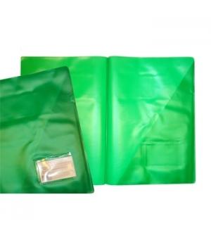 Pasta Plastico Martelada c/Bolsa e Visor A4 (321A) Verde Pac