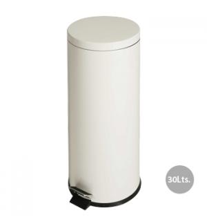 Papeleira Metal Aco Revestido c/ Pedal 30 Litros Branco