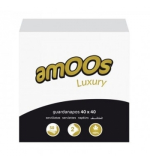 Guardanapos 40x40 2fls Amoos Luxury Branco 50un