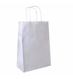 Saco Papel Branco 32+16x43cm c/Asa - 1un