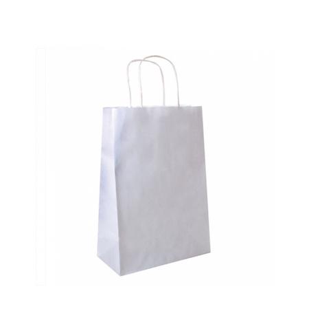 Saco Papel Branco 20+10x29cm c/Asa - 1un