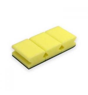 Esponja Salva Unhas (Block Service)  Amarelo/Verde Pack 3un