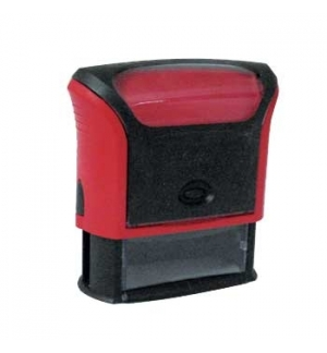 Carimbo 58x22mm Autotintavel Trodat Mod 4913 Corpo Vermelho
