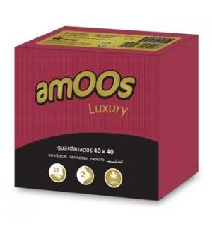 Guardanapos 40x40 2fls Amoos Luxury Bordeaux 50un