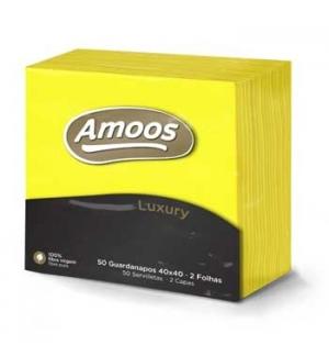 Guardanapos 40x40 2fls Amoos Luxury Amarelo 50un