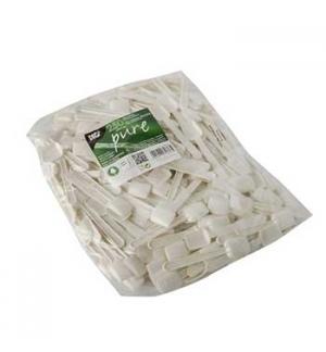 Colher Gelado Biodegradável C-PLA 9,3cm Branco 250un