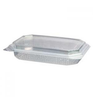 Embalagem Alimentar 500ml  PP Plástico Retangular c/Tampa 6n