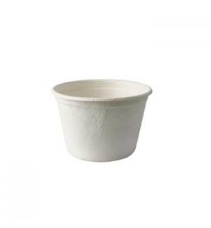 Tigelas de Sopa de Cana de Acucar Cor Natural 350ml 50un