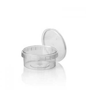 Caixa Alimentar PP Plástico Redonda 240ml 36un