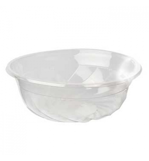Saladeira 1100ml PLA Redondo Transparente  50un