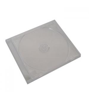 Caixa para CD/DVD 10,4mm com bandeja - Transparente 1un