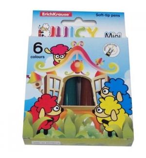 Marcador Feltro EK Juicy Mini 6 Cores