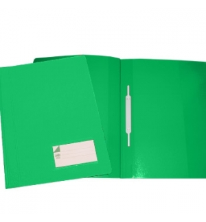 Classificador Plast.Capa Cristal Verde-Pack 10