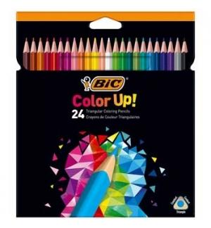 Lapis Cor 18cm Bic Color Up Cx Cartao 24un