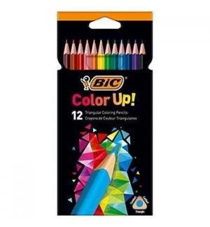 Lapis Cor 18cm Bic Color Up Cx Cartao 12un