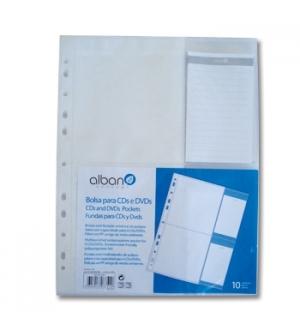 Bolsa PP arquivo c/Furacao p/ 4Cds/Dvds  Pack 10un