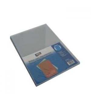 Pasta Plastico Liso c/Bolsa e Visor A4 Sortido Pack 10un.