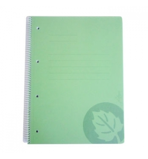 Caderno Espiral Capa PP A4 Quadriculado 120fls Cores Sortida