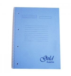 Caderno Espiral Capa PP A4 Pautado 100fls Cores Sortidas