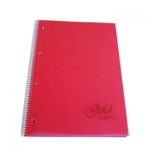 Caderno Espiral PP A4 Quadricul. 100fls 70grs Cores Sortidas