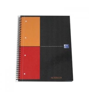 Caderno Espiral Oxford Notebook Capa Dura Quadriculado Preto