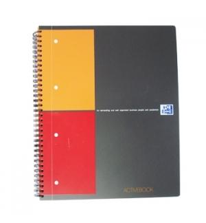 Caderno Espiral Oxford ActiveBook Capa PP A4 Quadric. 80fls