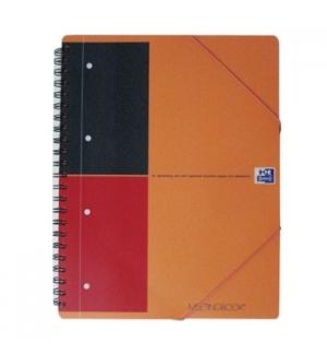 Caderno Espiral Oxford Meeting Book Plastico Pautado Laranja