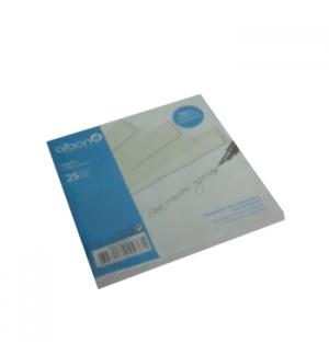 Envelope Papel Vegetal Transp.92gr 170x170 Pala Recta Pack25