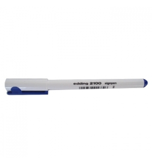 Marcador Ponta Fina Edding 2100 0.3mm Azul 1 unid
