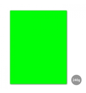 Cartolina 240gr 1 Folha 50x65cm Verde Fluorescente