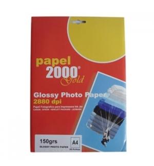 Papel 150gr InkJet 2000 A4  Foto Matte - 20 Folhas