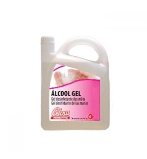 Gel higienizante desinf anti-séptico p/mãos Glow -5Litros