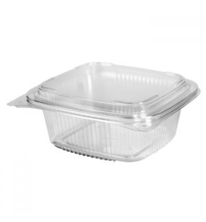 Embalagem Alimentar 795ml  PP Plástico Quadrad Tampa 120un