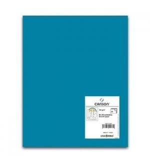 Cartolina 185gr 1 Folha 50x65cm Canson Iris Azul Caribe