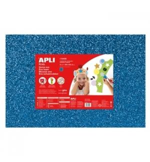 Placa de Cor Musgami 40x60cm 2mm c/ Purpurinas Azul 3Fls