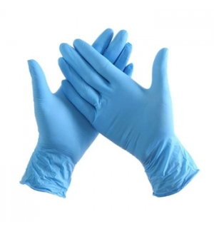 Luvas Vinil s/Po Tamanho (S) Azul - (Pack 100un)
